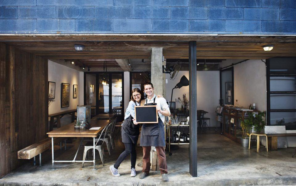 Couple Barista Coffee Shop