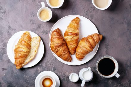 Fresh Coffee with Croissant